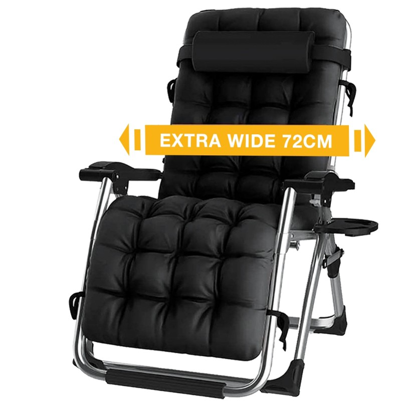 Reclining Zero Gravity Chair with Cup Holder, Extra Wide ...